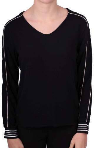 Street One Blusenshirt mit V-Ausschnitt schwarz