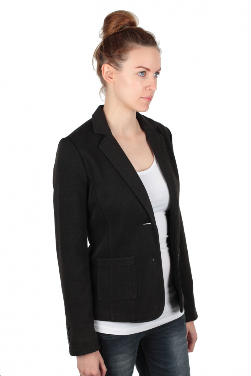 street one jersey blazer ilissa selectable size black ebay. Black Bedroom Furniture Sets. Home Design Ideas