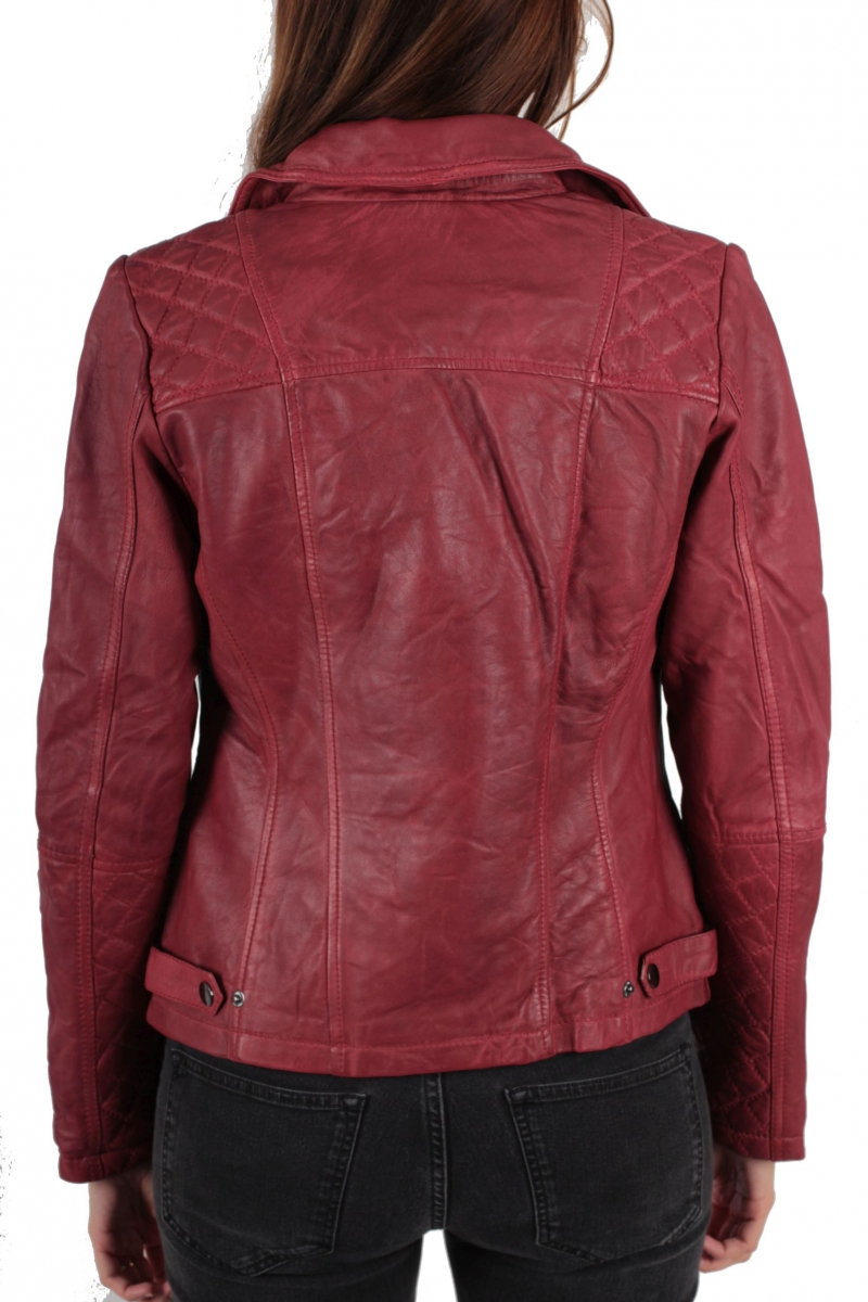 street one leder jacke finley gr w hlbar marsala red ebay. Black Bedroom Furniture Sets. Home Design Ideas