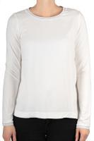 Street One feines Shirt mit Lurex-Details cremeweiß
