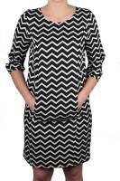 Street One Kleid mit ZickZack-Muster schwarz