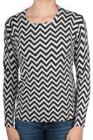 Street One Pullover mit ZickZack-Muster cremeweiß