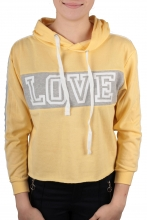 Hailys Cropped Pullover Love gelb