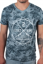 Eight2Nine T-Shirt floraler Druck  blau