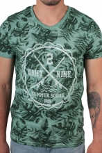 Eight2Nine T-Shirt floraler Druck  olive