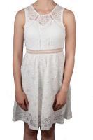 Hailys kurzes Kleid Cora mit Spitze cremeweiß