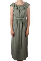 Hailys Kleid Vivi mit Rüschen khaki
