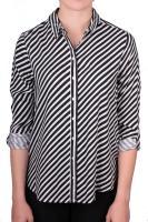Street One Bluse Sia mit diagonalen Streifen cremeweiß