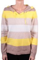 CECIL gestreifter Pullover mit Kapuze fresh yellow