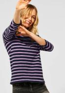 CECIL gestreiftes Raglan Shirt Soft Violet