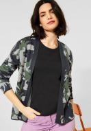 CECIL Camouflage Cardigan Soft Khaki