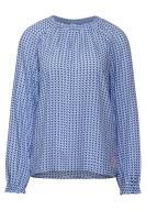 Street One Bedruckte Bluse mit Raglanärmel Breeze Blue