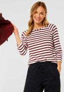 CECIL Strickshirt Stripe Copper Brown
