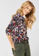 CECIL Big Flower Shirt mit 3/4 Arm cremeweiß
