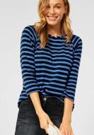 CECIL Strickshirt Stripes soft mid blue
