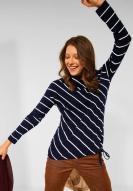 CECIL Shirt mit diagonalen Streifen deep blue