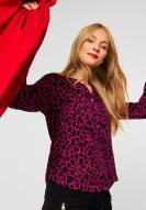,Street One Bluse Bamika mit Leo-Print Full Red